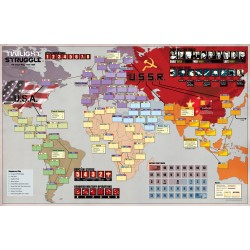 Twilight Struggle Deluxe Mounted Map