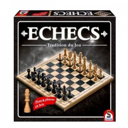 Jeu d'échecs en bois