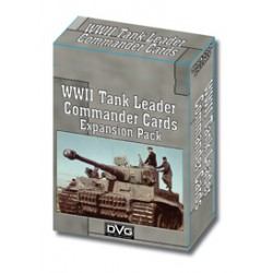 WWII Tank Leader Commander Cards Expansion pas cher