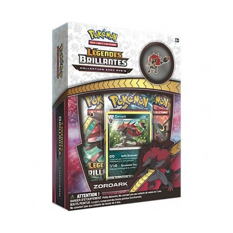 Coffret Pokémon Pin's Collection - SL 3.5 Légendes Brillantes : Zoroark