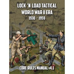 Lock 'n Load Tactical World War 2 Era Core Rules Book v4.1 pas cher