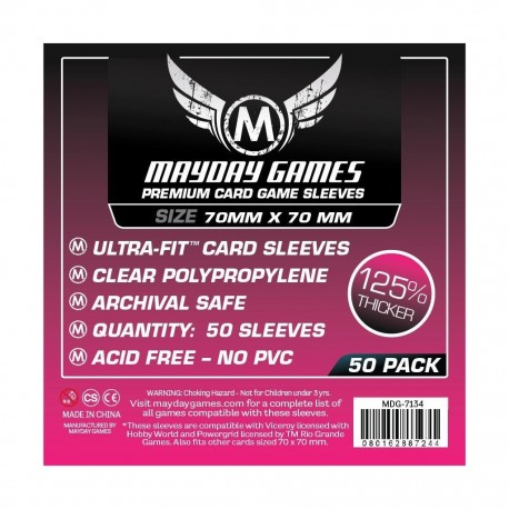 Card Game Sleeves - 63.5x88mm (x100)