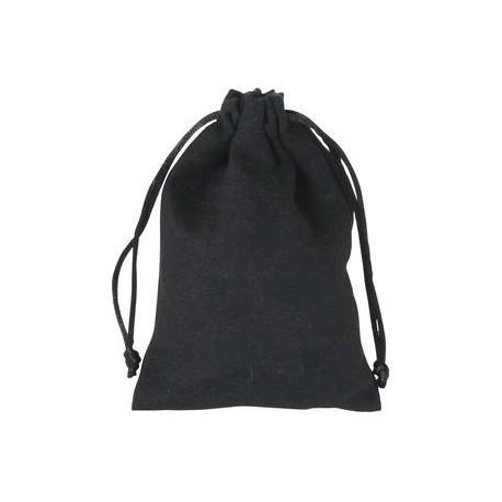 Bourse velours noir, int. satin or
