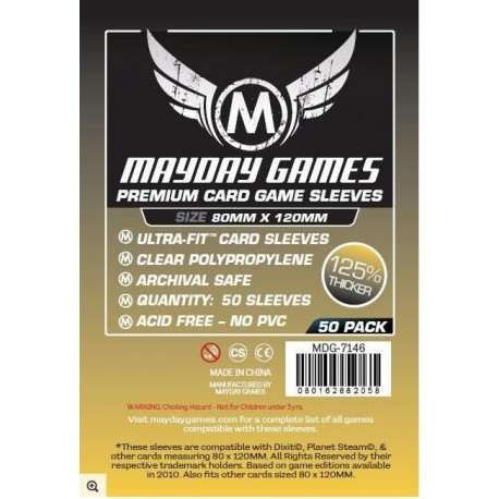 Premium Magnum Gold Sleeves - 80x120mm (x50)