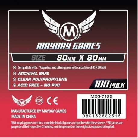 Card Game Sleeves - 80x80mm (x100)