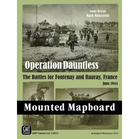 Operation Dauntless - Red Winter Mounted mapboard