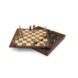 Coffret de jeu d'échecs historiques : Napoléon contre Wellington