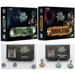 Sub Terra : extensions 2 et 3 + figurines horreurs + dés