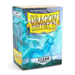 100 Dragon Shield Sleeves Clear Matte 63x88mm