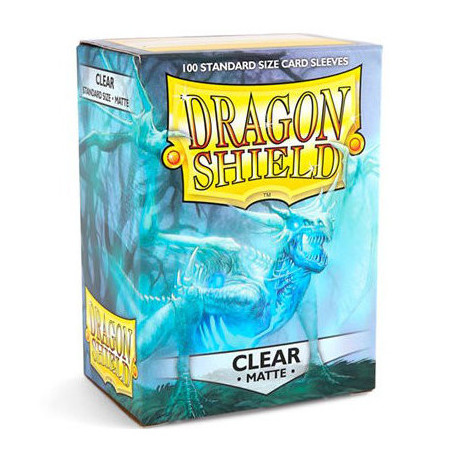 100 Dragon Shield Sleeves Clear Matte 63x88mm
