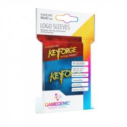 Keyforge : 40 protège-cartes logo bleu