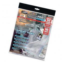 Ultra PRO : 10 feuilles de classeur Silver