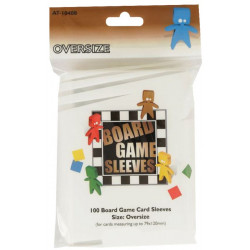 100 Board game Sleeves oversize 82x124mm