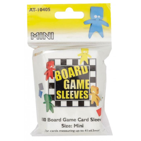 100 Board game Sleeves 41x63mm