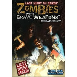 Zombies with Grave Weapons miniature set