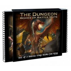 Double-livre plateau de jeu modulaire - Dungeon Book of Battle Mats