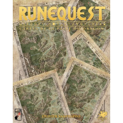 Runequest - cartes de la Passe du Dragon
