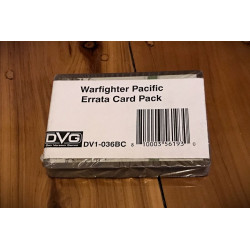 Warfighter Pacific - Errata/Update Decks