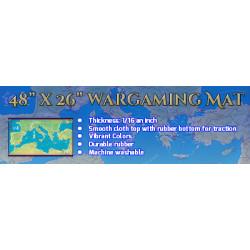 "Julius Caesar 48""x26"" Deluxe Neoprene Wargaming Map"