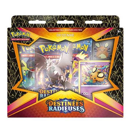 Pokémon EB04.5 Destinées Radieuses : Coffret Pins Dedenne