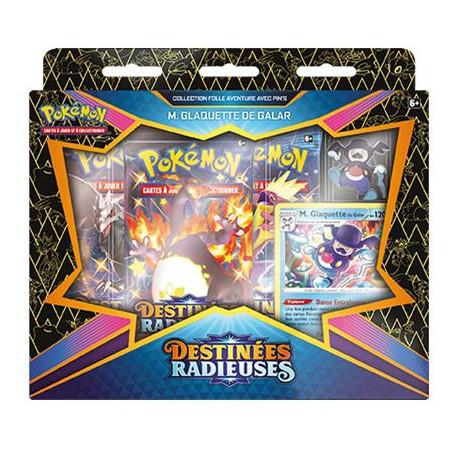 Pokémon EB04.5 Destinées Radieuses : Coffret Pins Glaquette de Galar