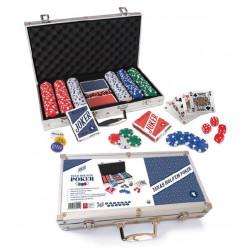 Mallette métal 300 jetons de Poker - Texas hold'em