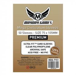 Mega Civilization Sleeves Premium (75x105mm)