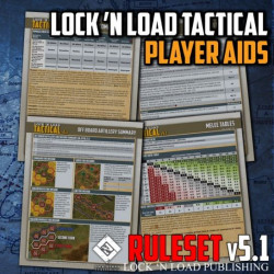 Lock 'n Load Tactical Player Aid Cards Cards v5.1