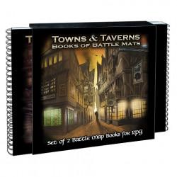 Double-livre plateau de jeu modulaire - Towns & Taverns