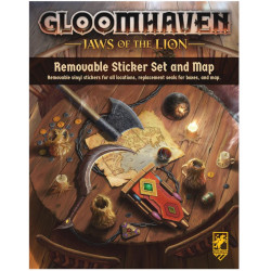 Gloomhaven - Jaws of the Lion : carte et autocollants