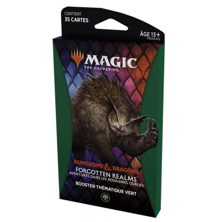 MTG : Forgotten Realms Green Thematic Booster FR