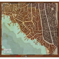 D&D 5 : Vol des Dragons - Map : quartiers de Waterdeep