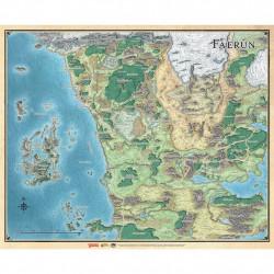 D&D 5 : Faerûn - Carte du continent