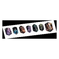Boite de 7 dés à facettes Oblivion violet
