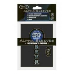 50 protèges-cartes ALPHA noirs