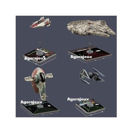 lot extensions X-Wing 2 : faucon, slave, Tie-I, A-Wing