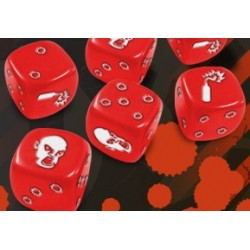 Zombicide set de dés rouges