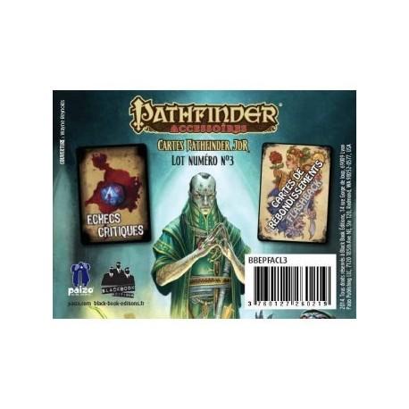 Pathfinder cartes JDR : Tourment et Poursuite