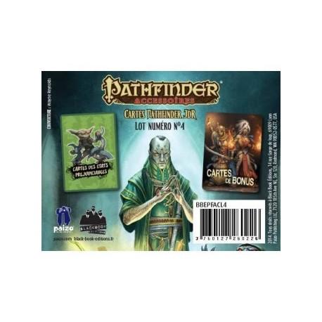 Pathfinder cartes JDR : etats préjudiciables et bonus