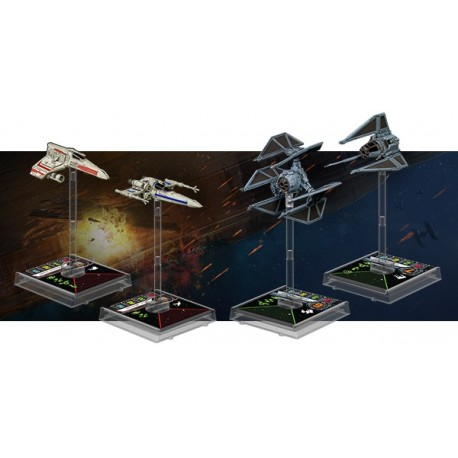 X-Wing vague IV : lot des 4 vaisseaux