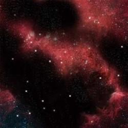 Space Game Mat - Crimson Gas Cloud