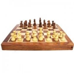 Jeu d'échecs en bois - pliant
