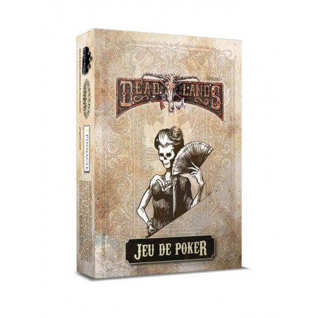 Deadlands - jeu de poker blanc
